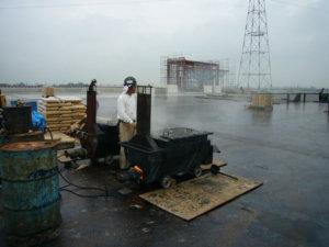 アスファルト防水 施工場所:屋上等