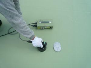 塩ビシート防水 機械固定工法 施工場所:屋上・バルコニー等